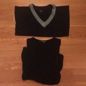 Set of 2 W's size M black tops